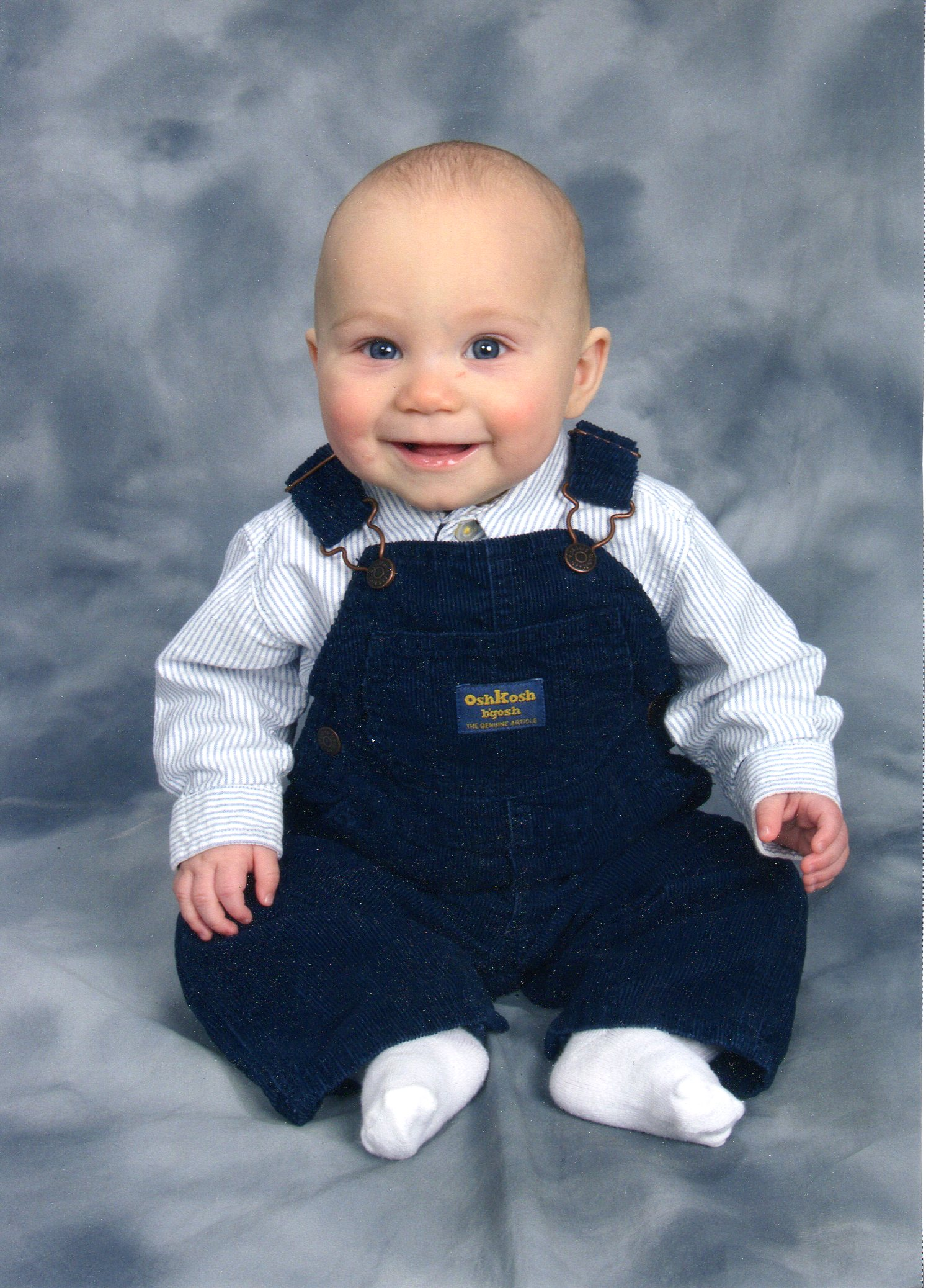 Ethan Davies as a baby